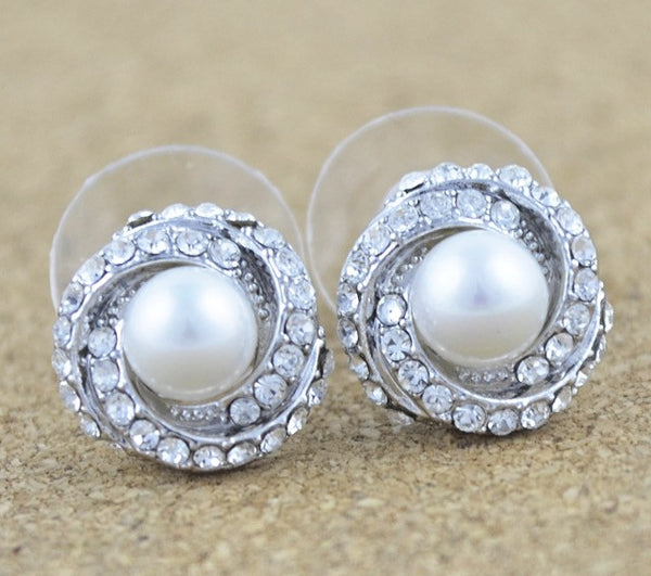 Swirl & Pearl Earrings