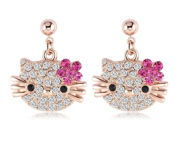 Hello Kitty Earrings - Classy Pink Boutique