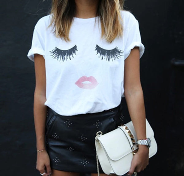 Eyelash girl tshirt