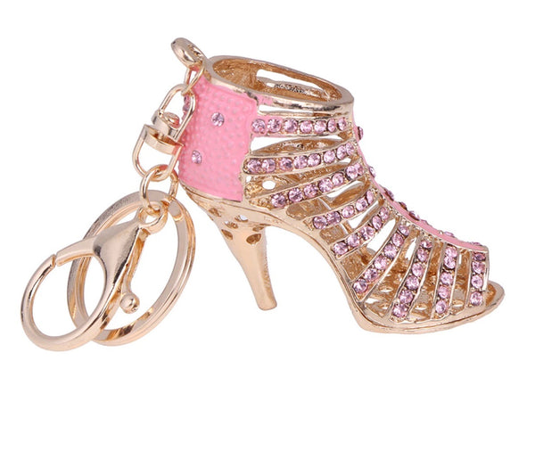 Beautiful pink high heel bag charm