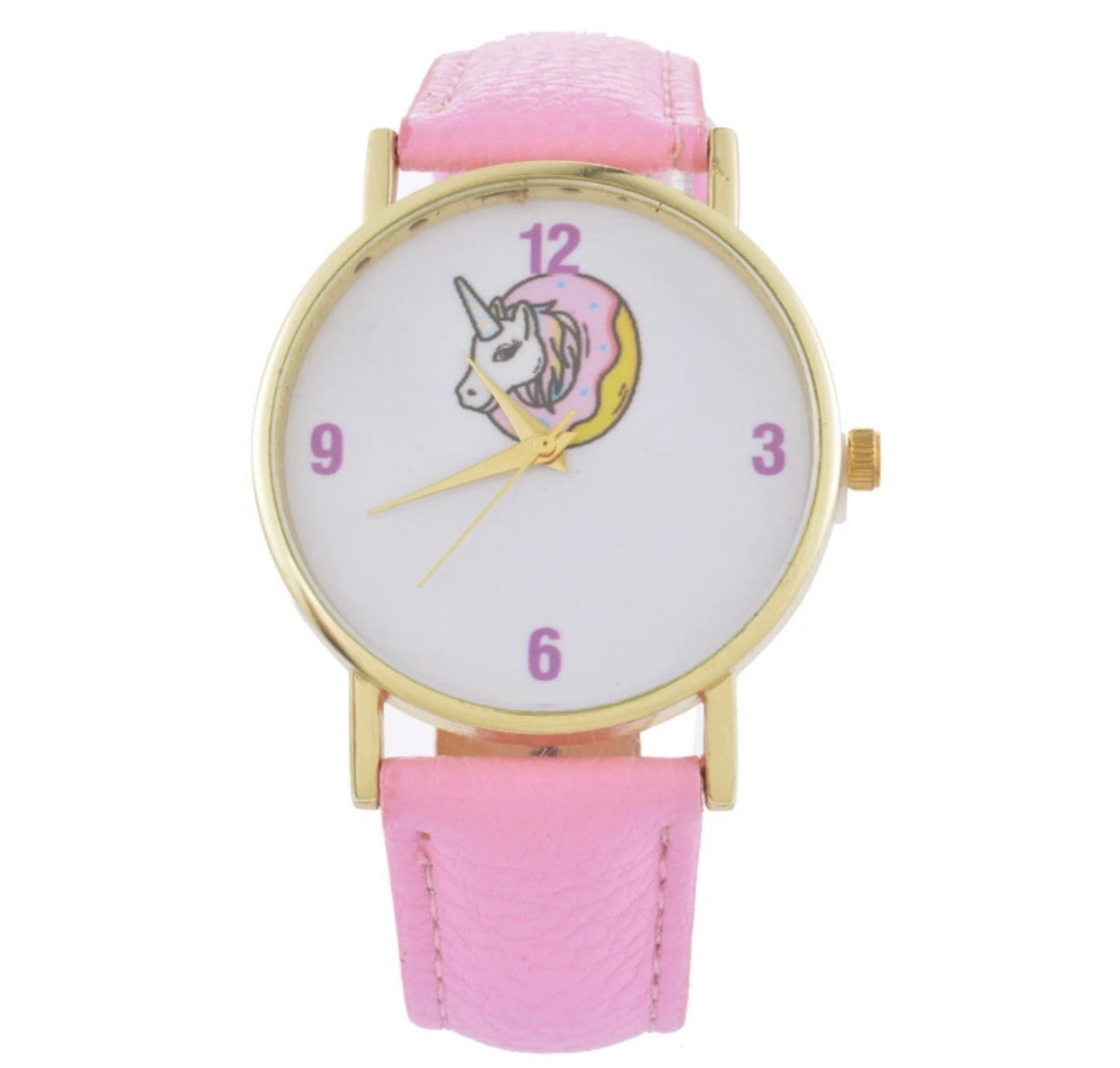 Unicorn donut 🍩🦄 pink watch