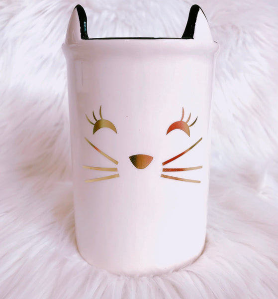 Cute cat brush holder