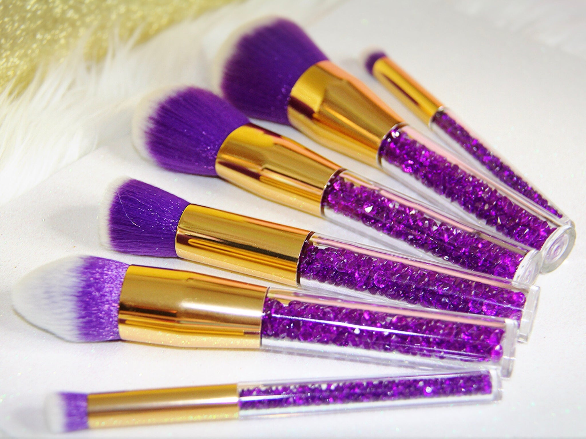 Princess Purple crystal brush set