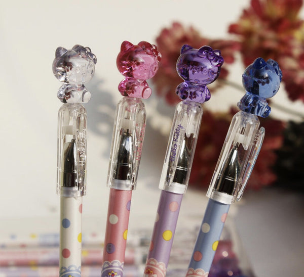 Hello Kitty pens crystal clear