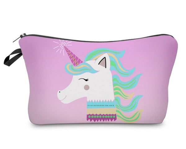 Happy Unicorn makeuo bag - Classy Pink Boutique