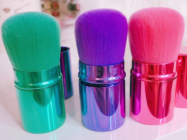 Beautiful color kabuki brush