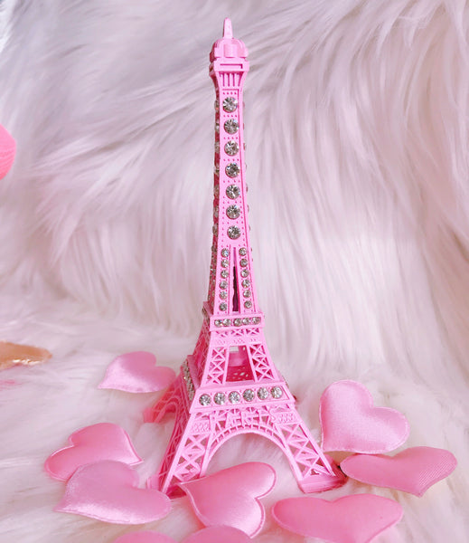 Small Eiffle Tower pink decor with crystals