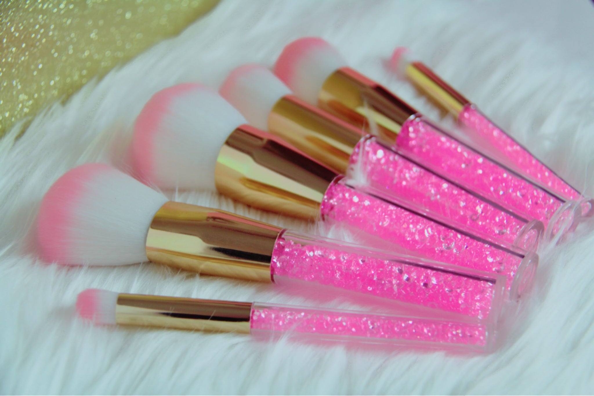 Princess Pink crystal brush set