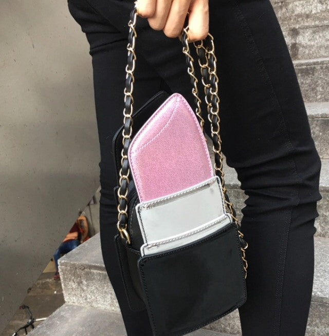 Lipstick shoulder bag...Women Fashion