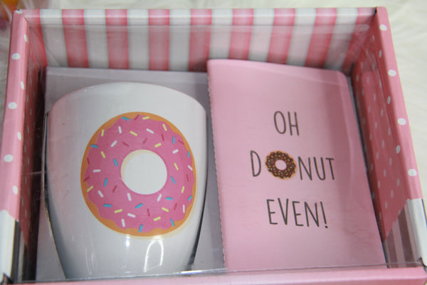 Donut mug and notebook set...pink 💕 - Classy Pink Boutique