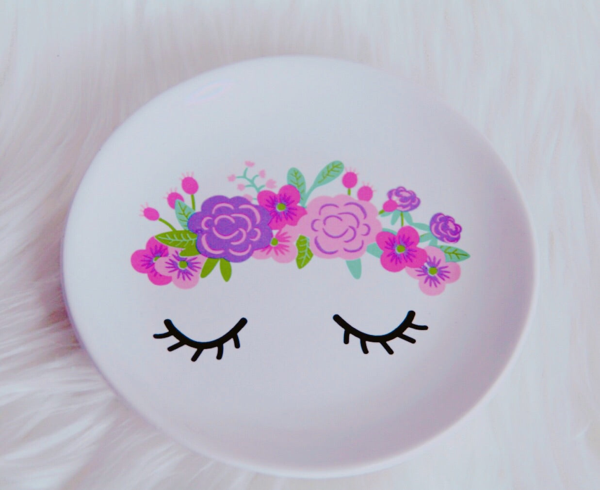 Eyelash flowers trinket tray - Classy Pink Boutique