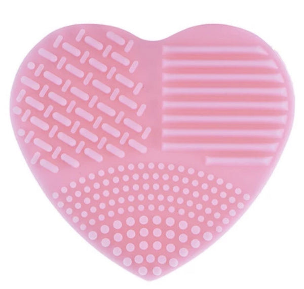 Pink soft heart brush scrubbing cleaner