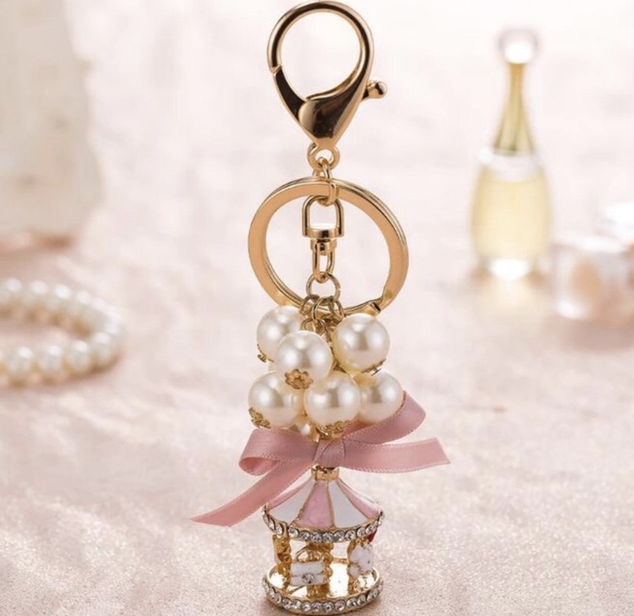 Fancy Carousel bag charm keychain