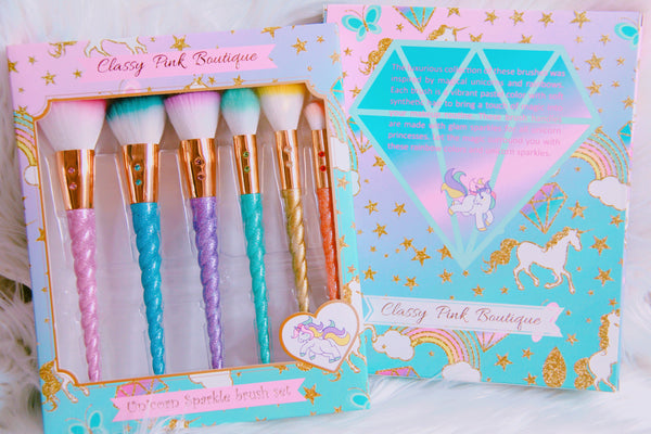 Unicorn Sparkle Brush set