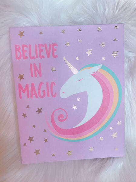 Unicorn Believe in Magic Canvas