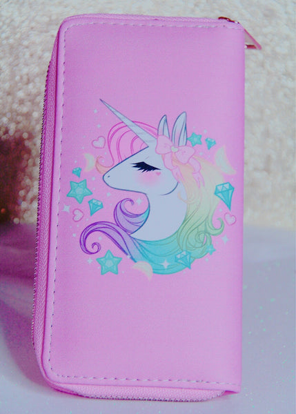 Dreamy Unicorn pink wallet - Classy Pink Boutique