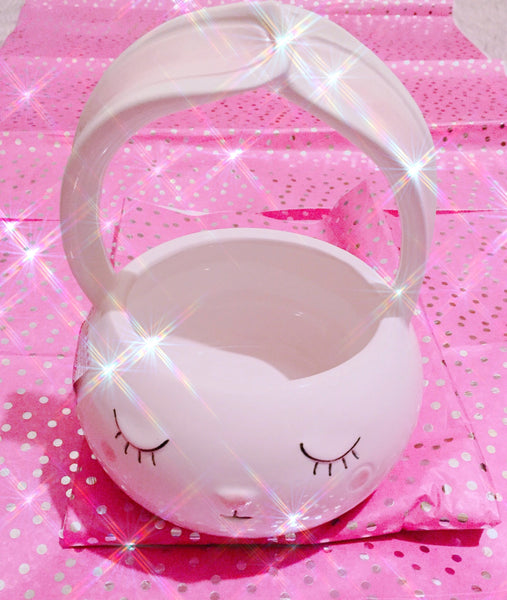 Bunny ears basket eyelash cup decor