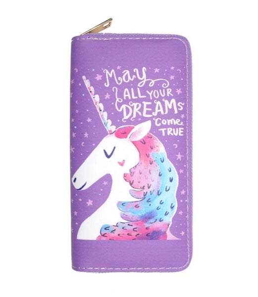 Purple unicorn wallet