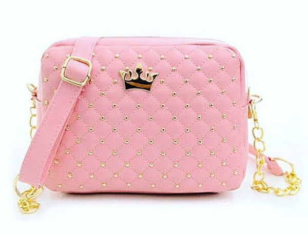 Classy Pink bag with gold crown...fit for a Queen! - Classy Pink Boutique