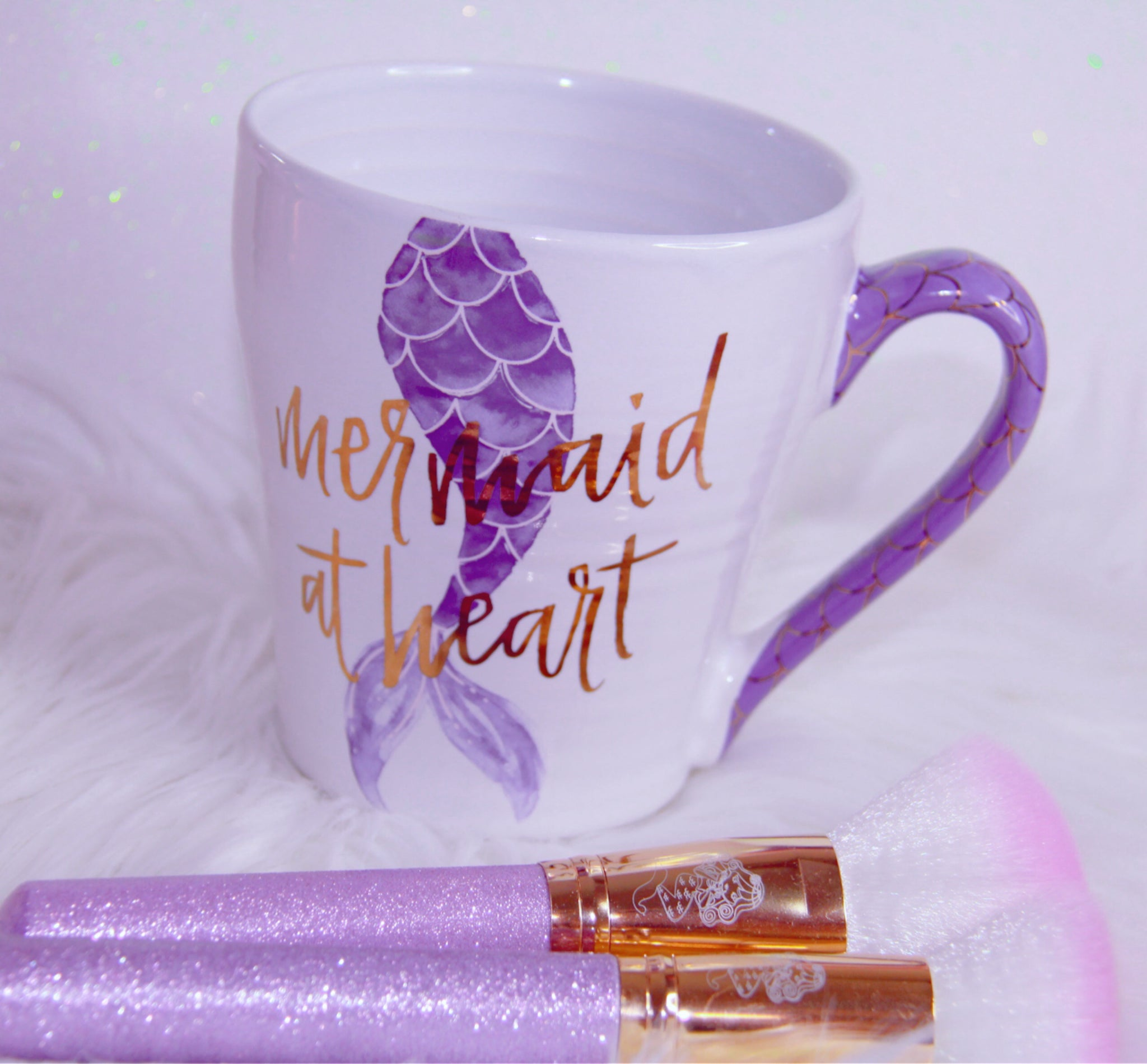 Mermaid at Heart tail purple mug