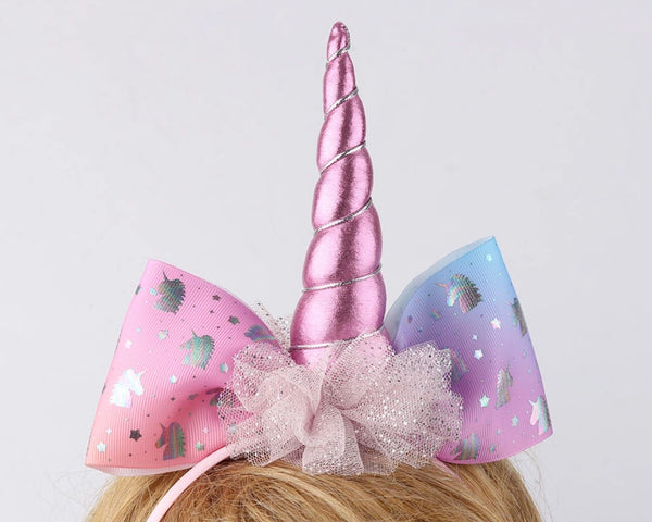 Unicorn headband with a unicorn bow