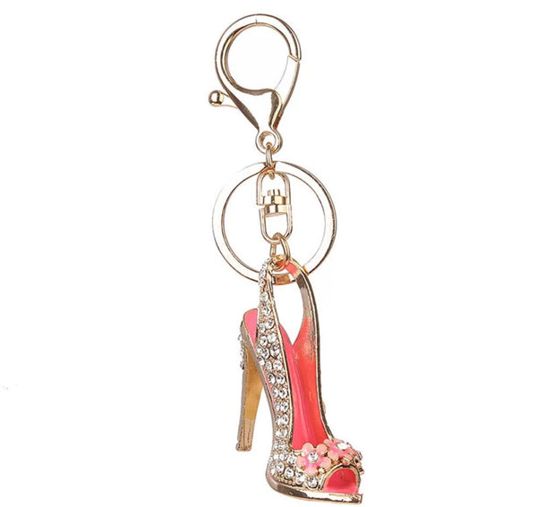 High Heel bag charm keychain