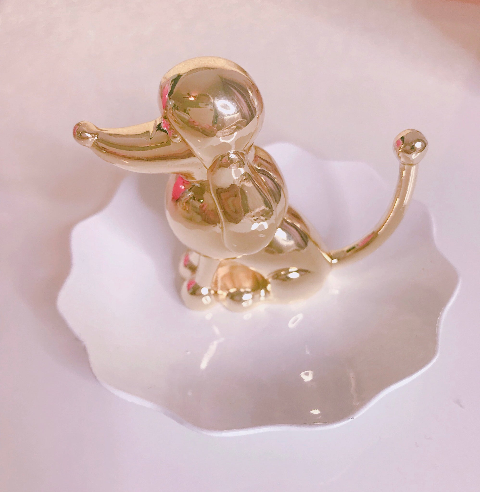 Poodle jewelry dish