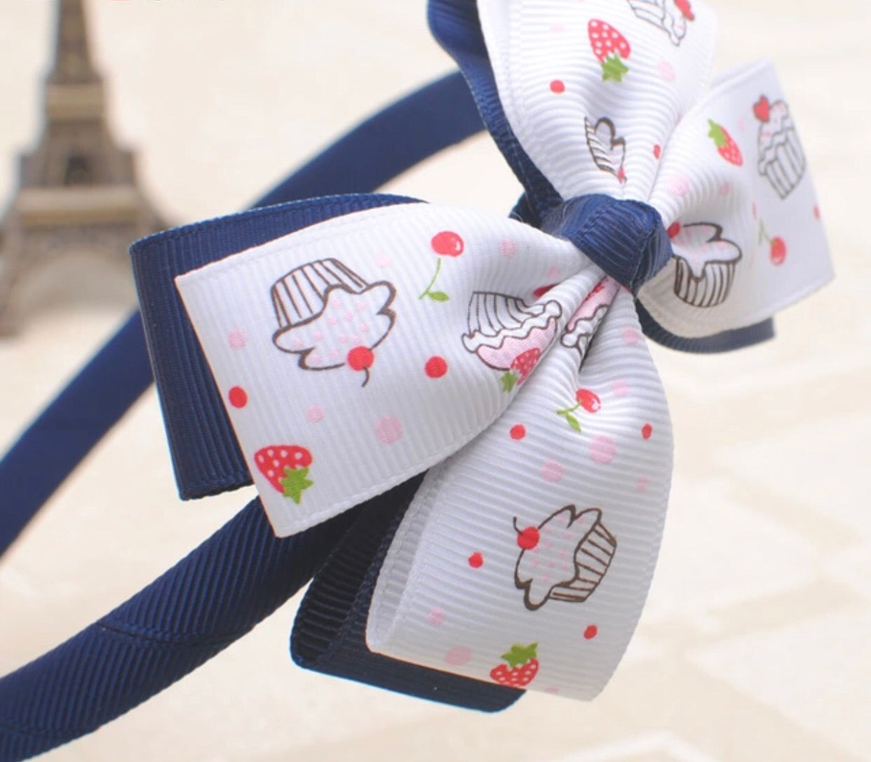 Bow head band for girls