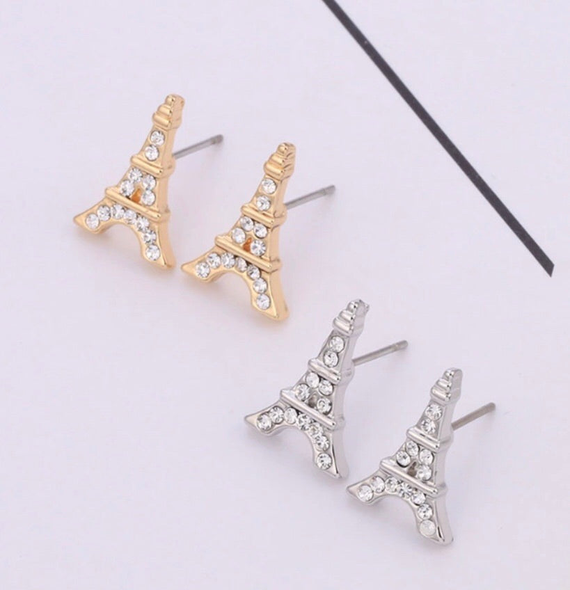 Eiffle Tower stud earrings