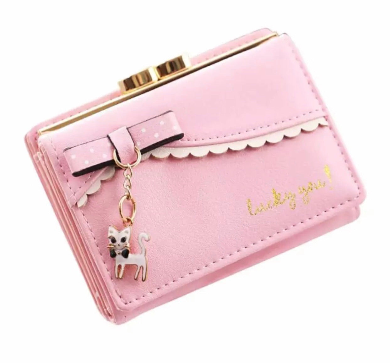 Kitty charm wallet