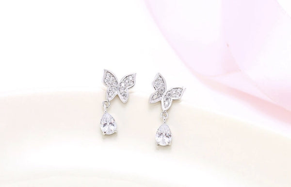 Real silver 925 butterfly earrings
