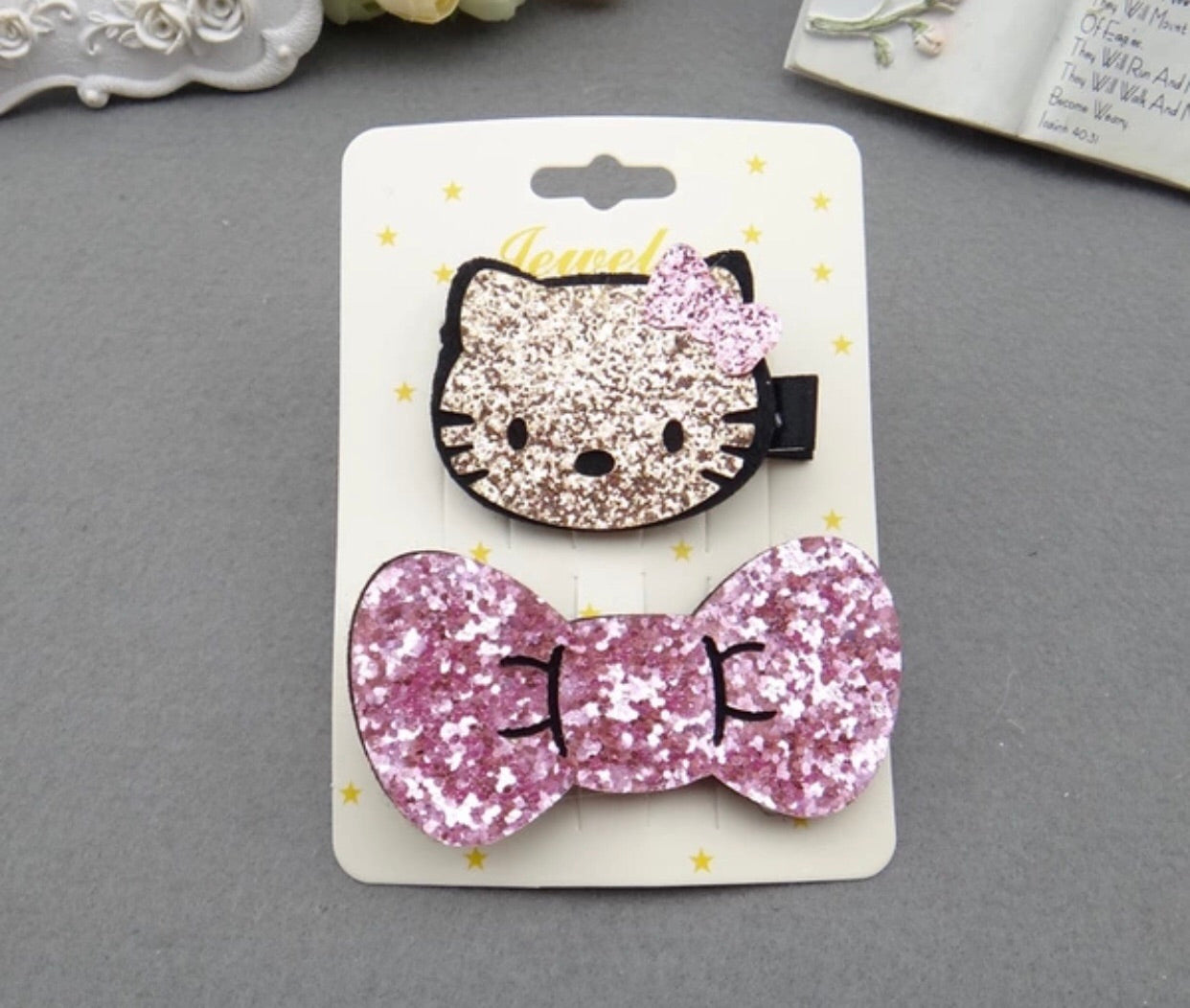 Glamoures sparkley hair clips for girls - Classy Pink Boutique