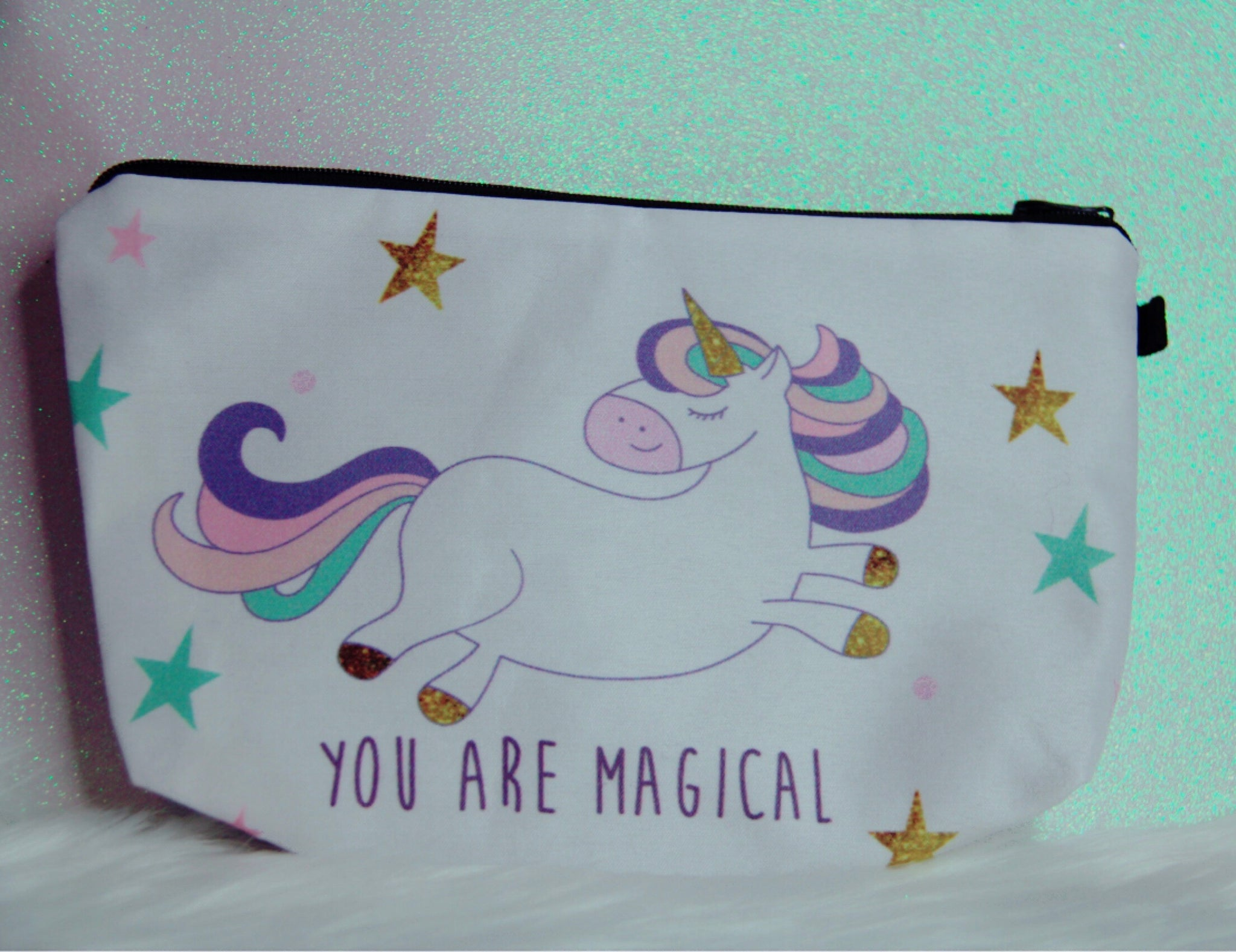 You are magical pencil case or makeup bag
