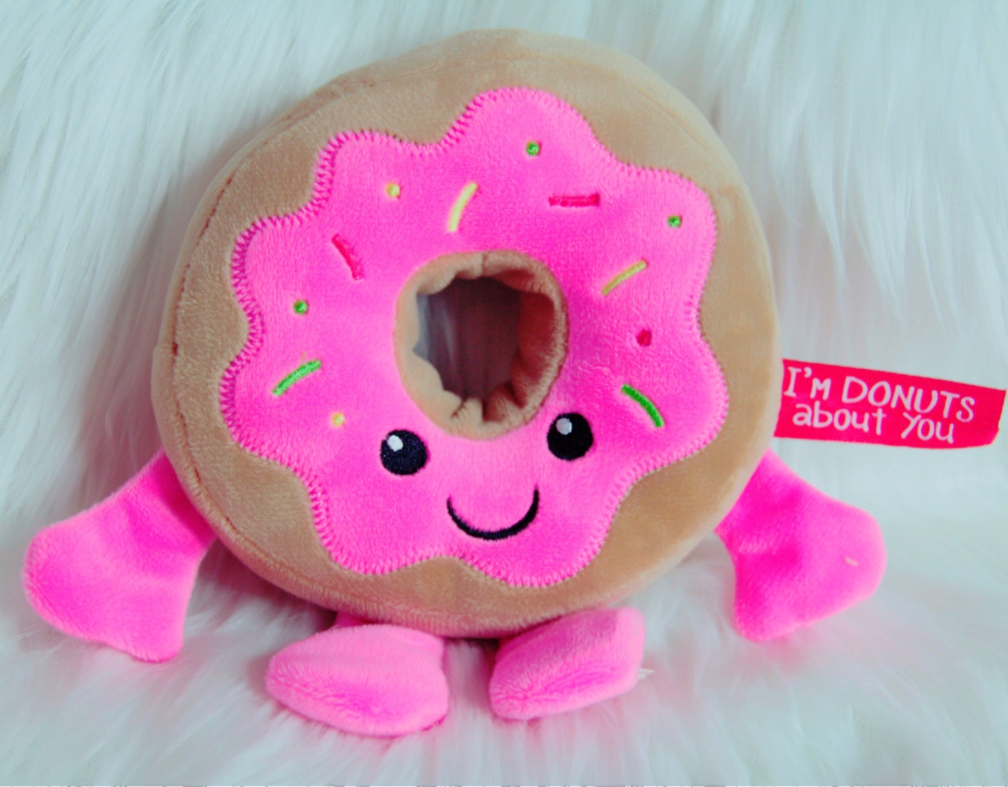 Donut plush decor