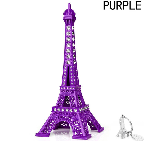 Small Eiffle Tower purple decor with crystals