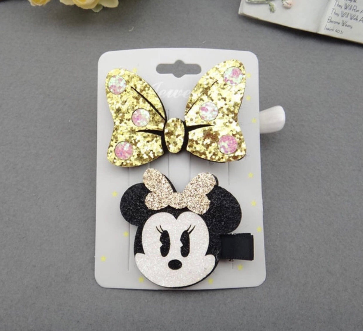 Glamoures sparkley hair clips for girls