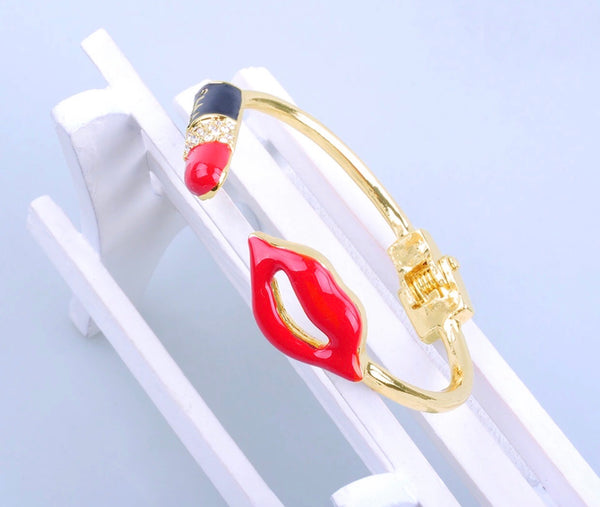 Lipstick bangle bracelet - Classy Pink Boutique