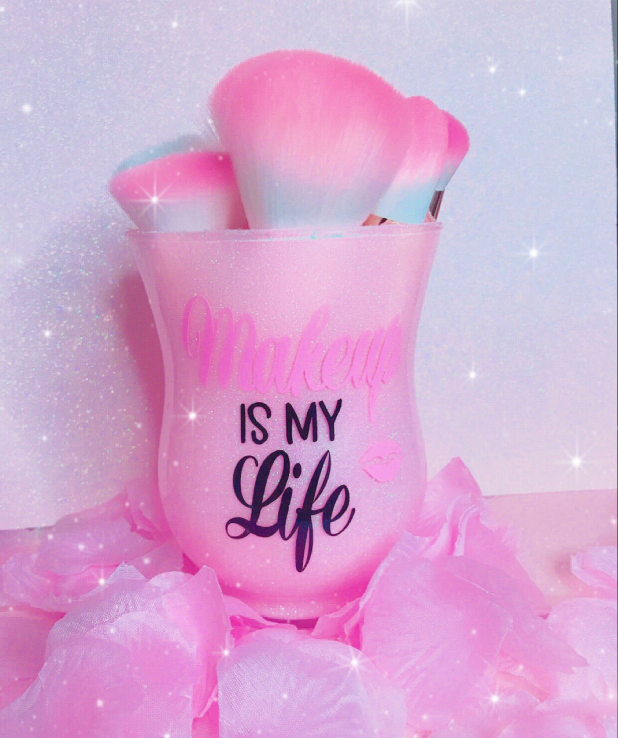 Makeup is my Life brush holder - Classy Pink Boutique