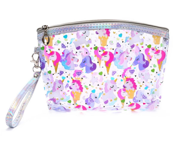 Clear Unicorn makeup bag