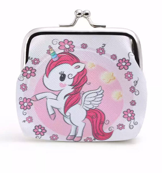 Small pouch wallet with a magical Unicorn