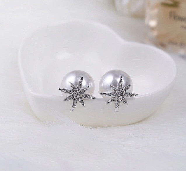 Fancy Pearl two sided earrings