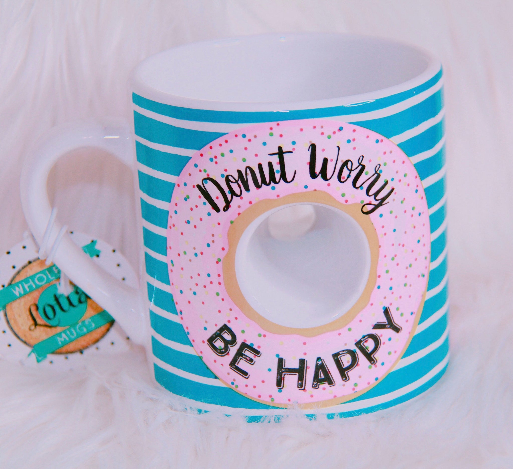 Donut two sided mug - Classy Pink Boutique