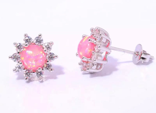 Beautiful holographic crystal stone earrings