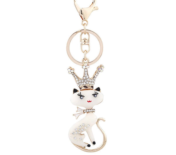 Queen Cat bag charm keychain