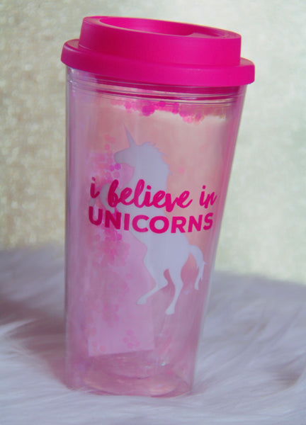 Believe in Unicorns with glitter - Classy Pink Boutique