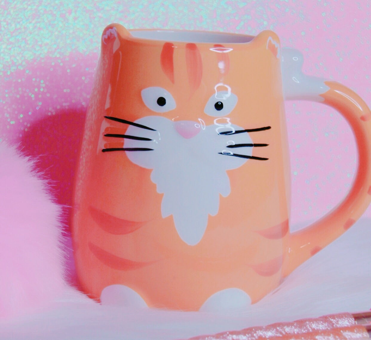 Orange kitty 🐱 mug