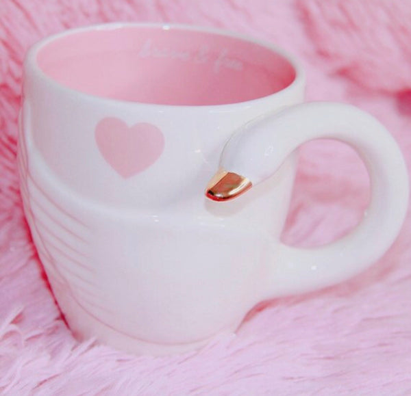 Heart Swan mug - Classy Pink Boutique
