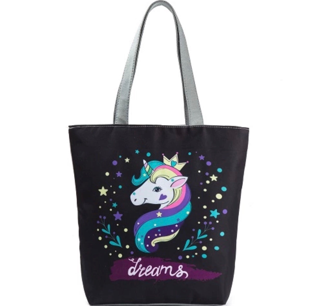 Unicorn Tote with zipper