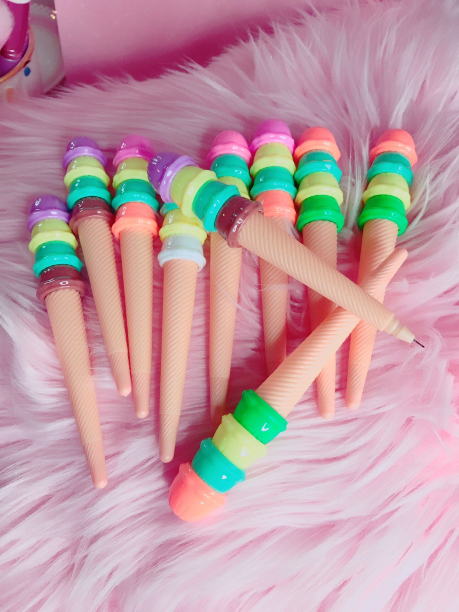 Ice cream gel pens