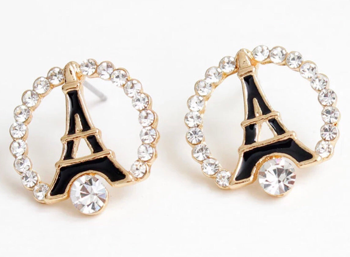 Eiffle tower earrings